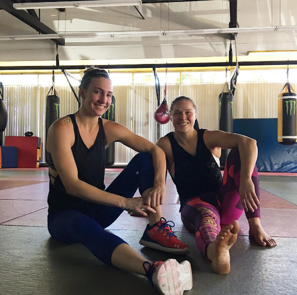 a photo of Ronda Rousey and Mikaela Mayer
